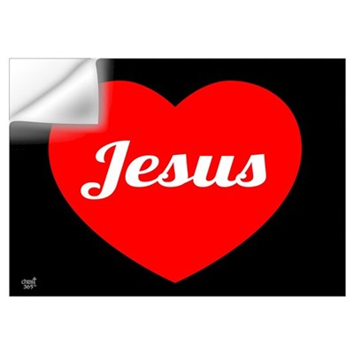 Jesus Loves Wall Decal