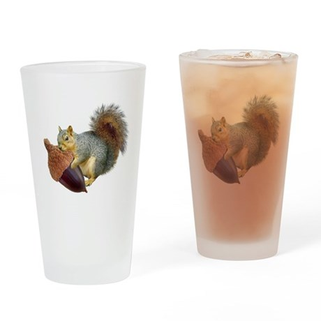 Squirrel with Acorn Drinking Glass