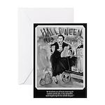 Bonnie & Clyde Halloween Greeting Card