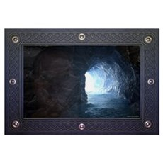 Merlin's Cave, Tintagel, Cornwall Canvas Art