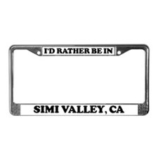 Rather be in Simi Valley License Plate Frame