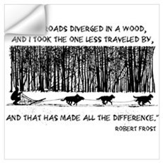 The Road Less Traveled Sled D Wall Decal