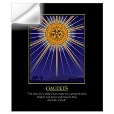"Gaudete 20"" X 24"" Wall Decal"
