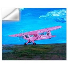 Pink Piper Cub Wall Decal