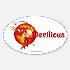 Devilious Oval Decal