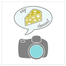 Camera Says Cheese Poster