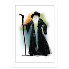 Wizard and his Magical Staff Canvas Art