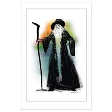 Wizard and his Magical Staff Poster
