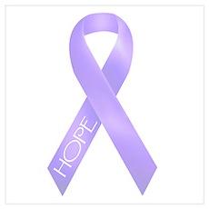 Lavender Ribbon Poster