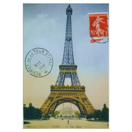 Vintage Eiffel Tower Wall Decal Part 94