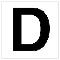 D Helvetica Alphabet Poster