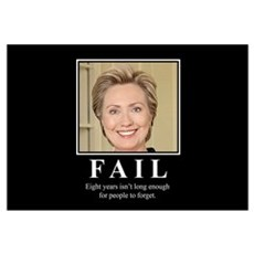 Hillary FAIL Framed Print