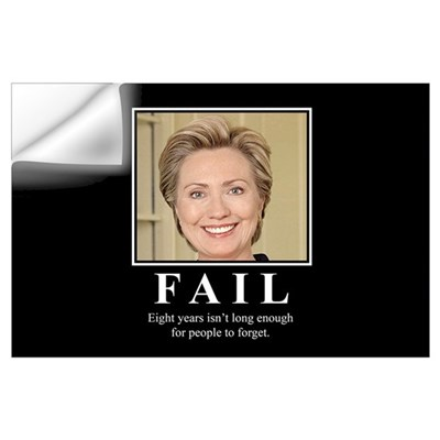 Hillary FAIL Wall Decal