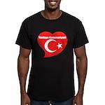 Turkey Men's Fitted T-Shirt (dark)