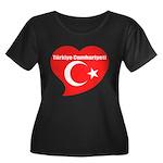 Turkey Women's Plus Size Scoop Neck Dark T-Shirt