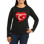 Turkey Women's Long Sleeve Dark T-Shirt