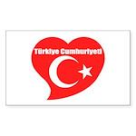 Turkey Sticker (Rectangle 50 pk)