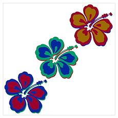 Draping Hibiscus Poster