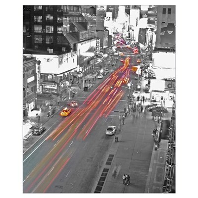 New York traffic Framed Print