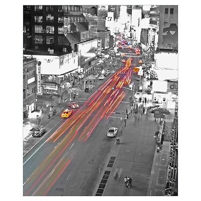 New York traffic Poster