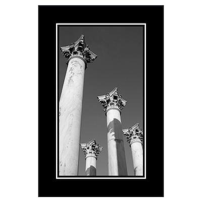 Capitol Columns B&W Poster