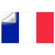 French Flag Wall Decal