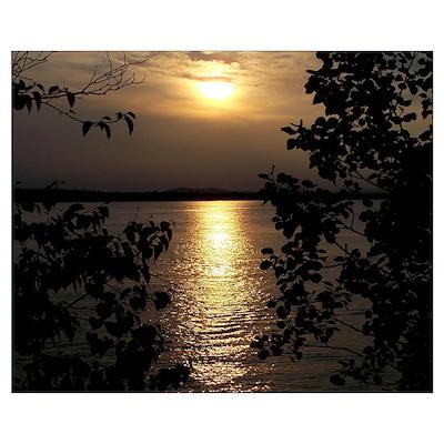 Scenic Sebago Lake Maine Suns Poster