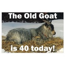 Old Goat is 40 Today Poster