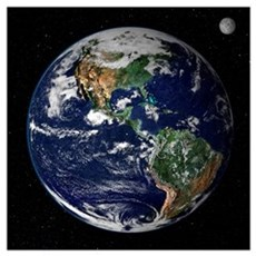 "23""x23"" Earth From Space Real Quality Canvas Art"