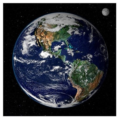 """23""""x23"""" Earth From Space Real Quality Poster"""
