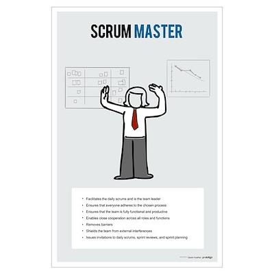 ScrumMaster Activities (Female) Poster
