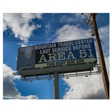 Area 51 Billboard Framed Print