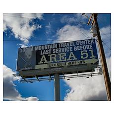 Area 51 Billboard Poster