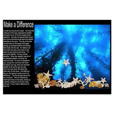 """Make A Difference"" Framed Print"