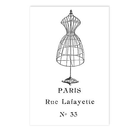 PARIS DRESSFORM Postcards (Package of 8)