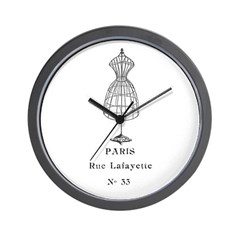 PARIS DRESSFORM Wall Clock