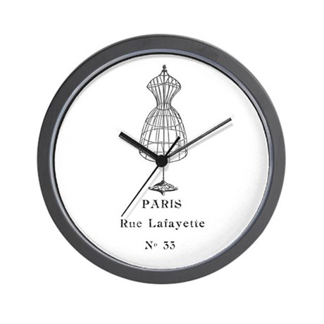 PARIS DRESSFORM Wall Clock