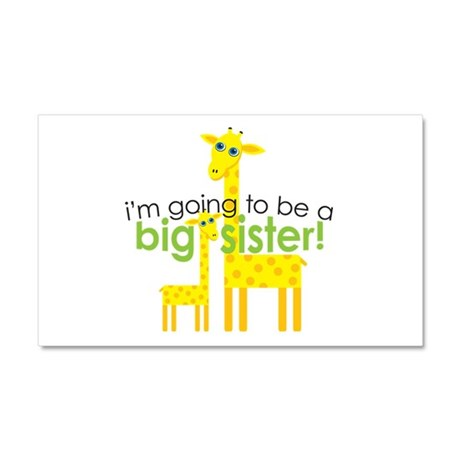 Big Sister To Be Giraffes Car Magnet 20 x 12