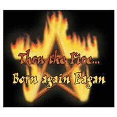 """Thru The Fire, Born again Pagan"" Canvas Art"