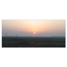 Sunrise Over Umm Qasr's Port Poster