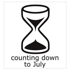 counting down July due date Framed Print