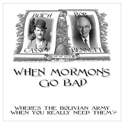 When Mormons Go Bad - Bob Ben Poster