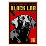 Black lab Wrapped Canvas Art
