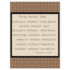 Seven Social Sins Poster