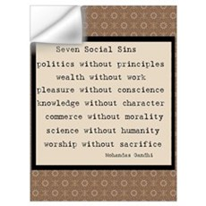 Seven Social Sins Wall Decal