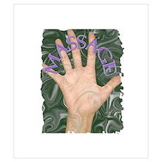 Massage on Palm Poster