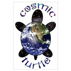 Cosmic Turtle Poster