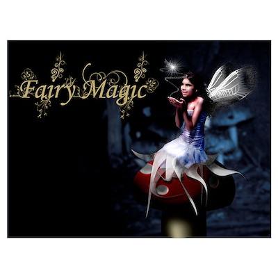 Fairy Magic Toadstool Fairy Poster