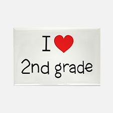 I Love 2nd Grade: Rectangle Magnet