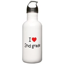 I Love 2nd Grade: Water Bottle
